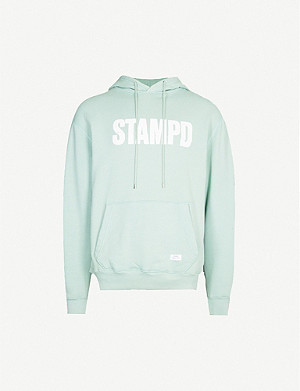 STAMPD Logo-print cotton-jersey hoody