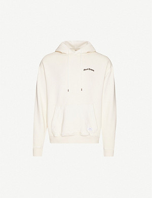 STAMPD Hard Times graphic-print cotton-jersey hoody