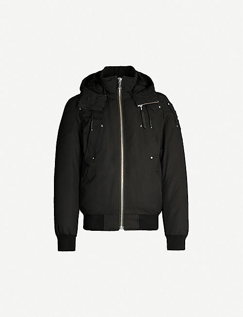 MOOSE KNUCKLES: Biencourt Bomber twill-down jacket