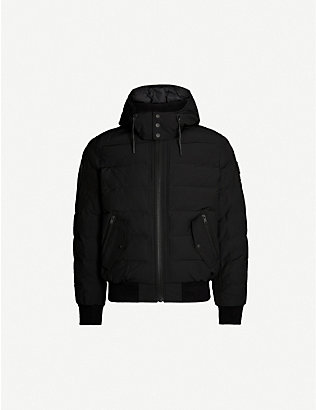 MOOSE KNUCKLES: Rocher padded twill-down hooded jacket