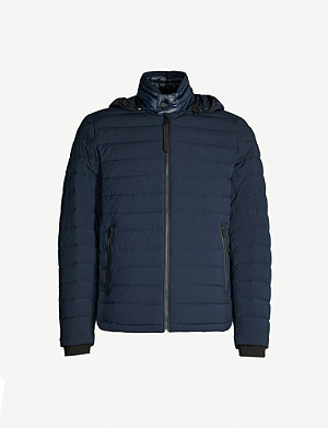 MOOSE KNUCKLES Black Rock padded shell-down jacket