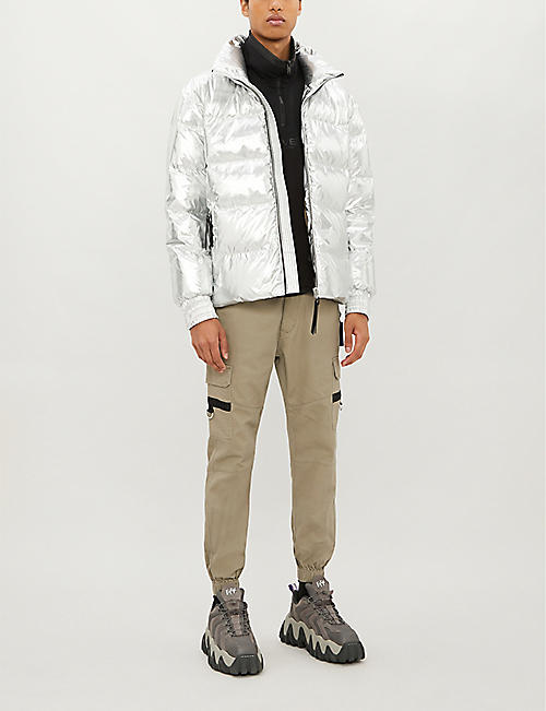 MOOSE KNUCKLES Envy metallic padded shell-down puffer jacket
