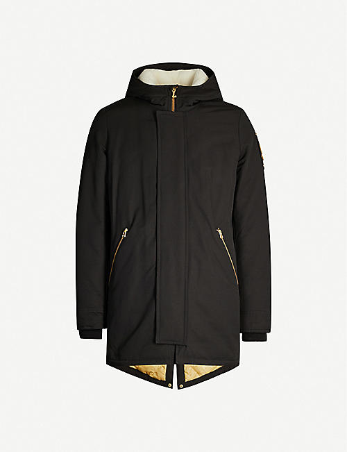 MOOSE KNUCKLES Colombier hooded twill-down jacket
