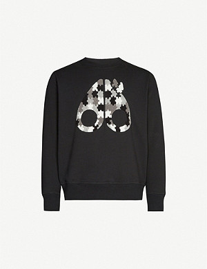 MOOSE KNUCKLES Logo-print cotton-jersey sweatshirt