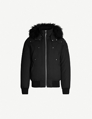 MOOSE KNUCKLES Ballistic faux-fur-trim hooded twill-down jacket