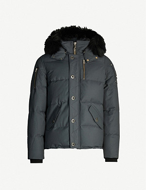 MOOSE KNUCKLES 3Q faux-fur-trim hooded twill-down jacket