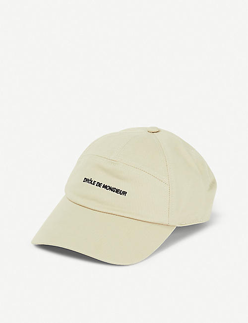 DROLE DE MONSIEUR Logo-embroidered baseball cap