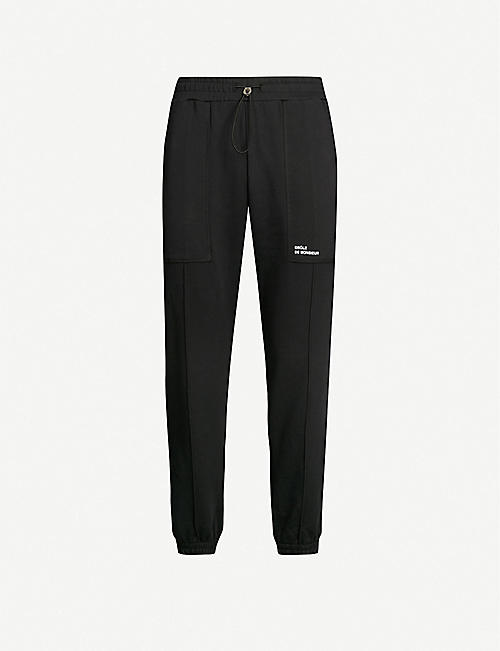 DROLE DE MONSIEUR Logo-print cotton-jersey jogging bottoms