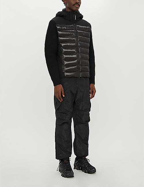 CP COMPANY Quilted wool-blend and shell-down jacket