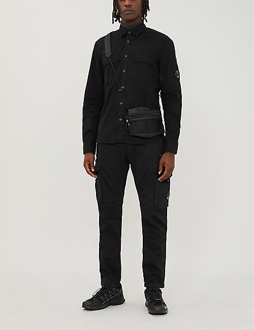 CP COMPANY Goggle-embellished regular-fit cotton shirt