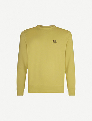 CP COMPANY Logo-embroidered cotton-jersey sweatshirt