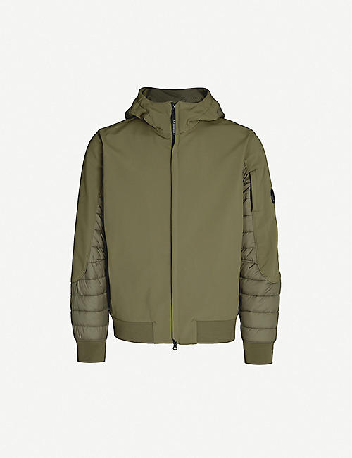 CP COMPANY Quilted-panel shell jacket