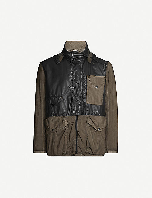 CP COMPANY Two-tone patch-pocket shell hooded jacket