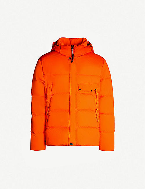 CP COMPANY Goggle-embellished padded shell hooded jacket