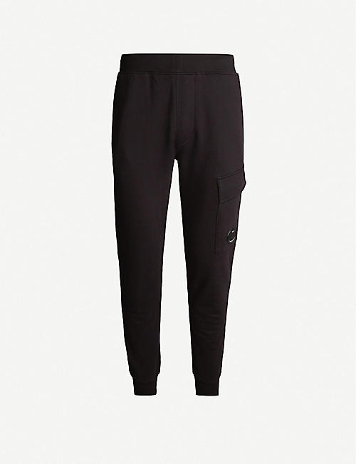 CP COMPANY Cargo pocket relaxed-fit cotton-jersey jogging bottoms