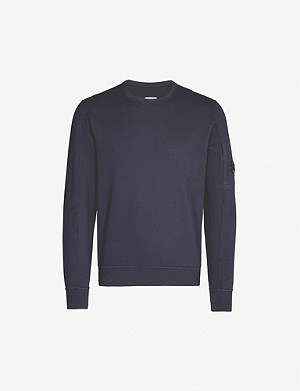 CP COMPANY Lens-embellished cotton-jersey sweatshirt