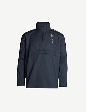 ADIDAS Logo-embroidered cotton windbreaker