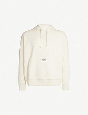 ADIDAS Logo-embroidered cotton-jersey hoody