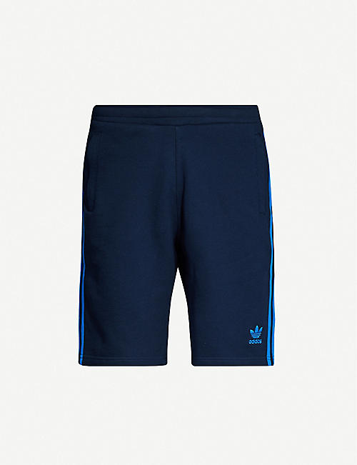 ADIDAS Logo-embroidered cotton-jersey shorts