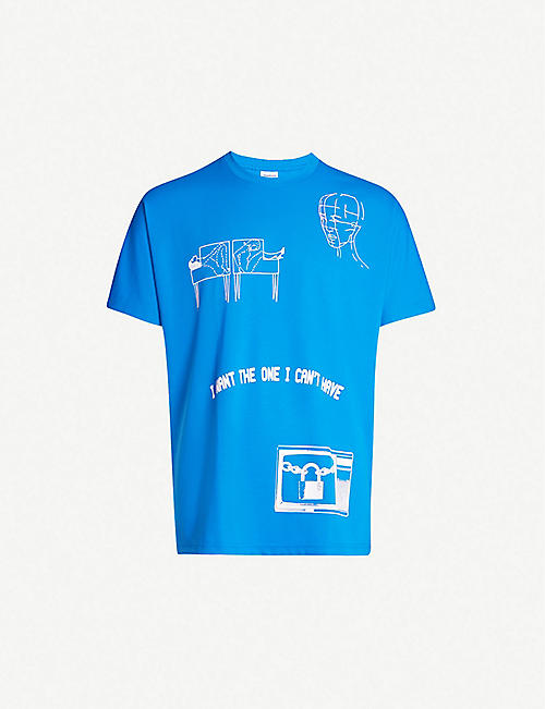 REEBOK PLEASURES graphic-print jersey T-shirt