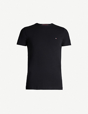 TOMMY HILFIGER Logo-print stretch-cotton T-shirt