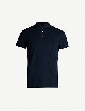 TOMMY HILFIGER Slim-fit cotton-jersey polo