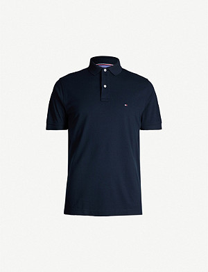 TOMMY HILFIGER Logo-embroidered cotton-jersey polo shirt