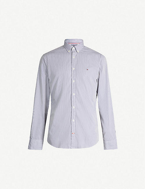 TOMMY HILFIGER Striped regular-fit cotton shirt