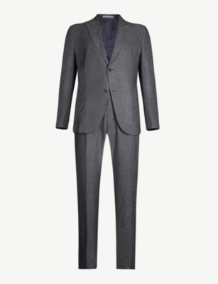ELEVENTY Regular-fit linen, wool and silk-blend suit