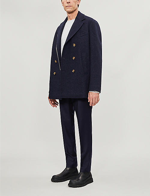 ELEVENTY Double-breasted wool-blend jacket