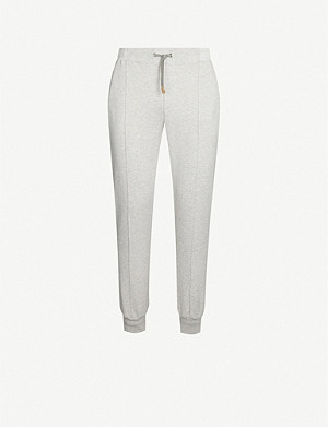 ELEVENTY Relaxed-fit cotton-jersey jogging bottoms