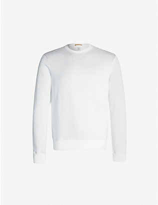 ELEVENTY: Crewneck cotton-blend sweatshirt