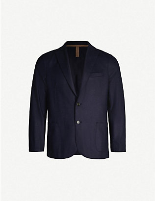 ELEVENTY: Single-breasted regular-fit wool-blend blazer
