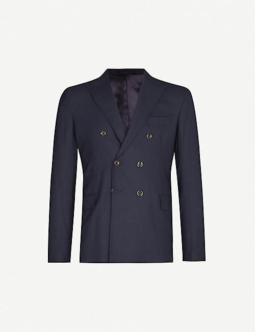 ELEVENTY Double-breasted regular-fit wool blazer