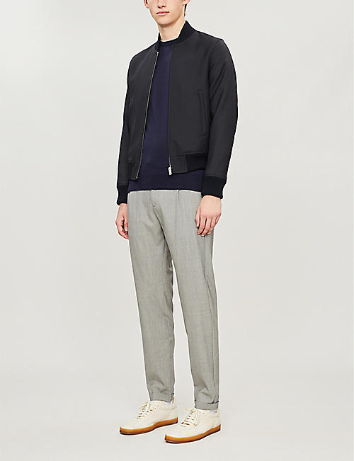 ELEVENTY Contrast-trim wool and silk-blend jumper