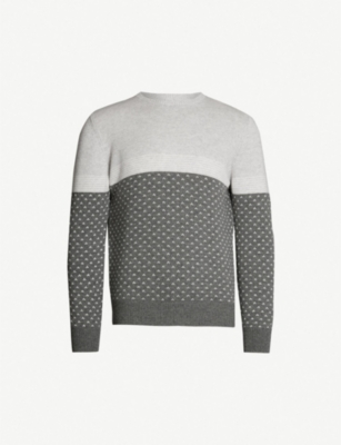 ELEVENTY Crewneck colour-blocked cashmere jumper