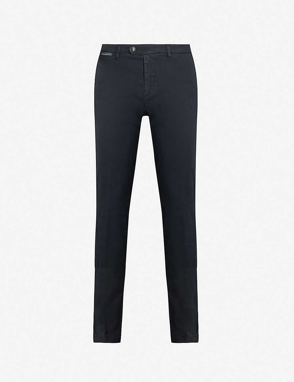 ELEVENTY: Tapered stretch-cotton trousers