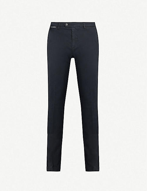 ELEVENTY Tapered stretch-cotton trousers