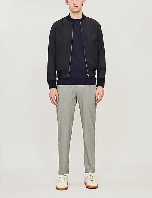 ELEVENTY Tapered stretch-wool trousers
