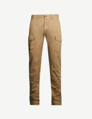 ELEVENTY Relaxed-fit straight stretch-cotton cargo trousers