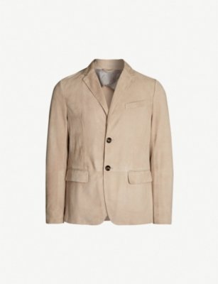 ELEVENTY Notch-lapel suede blazer