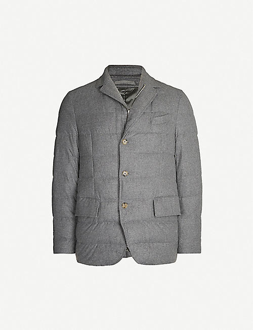 ELEVENTY Padded regular-fit wool, silk and cashmere-blend blazer