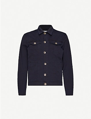 ELEVENTY: Regular-fit stretch-cotton twill jacket