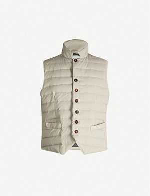 ELEVENTY Padded shell-down gilet