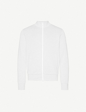 ELEVENTY Side-stripe cotton-jersey sweatshirt