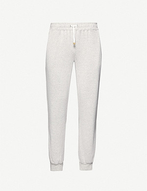 ELEVENTY Tapered cotton-jersey jogging bottoms