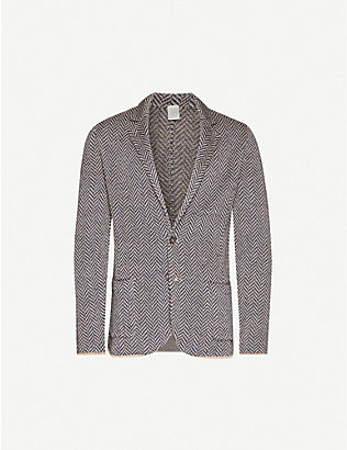 ELEVENTY: Single-breasted relaxed-fit linen and silk-blend blazer