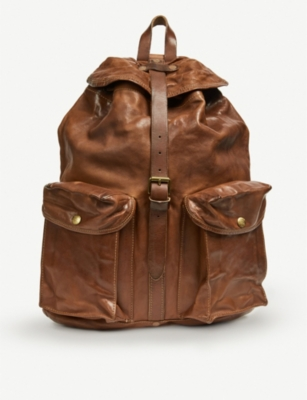 RRL Riley leather rucksack