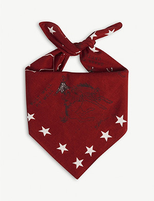 RRL Ranch map cotton bandana