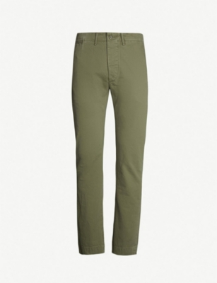 RRL Officers classic-fit cotton chinos